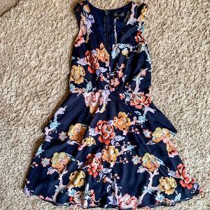 NWT- Adelyn Rae Navy Floral Dress